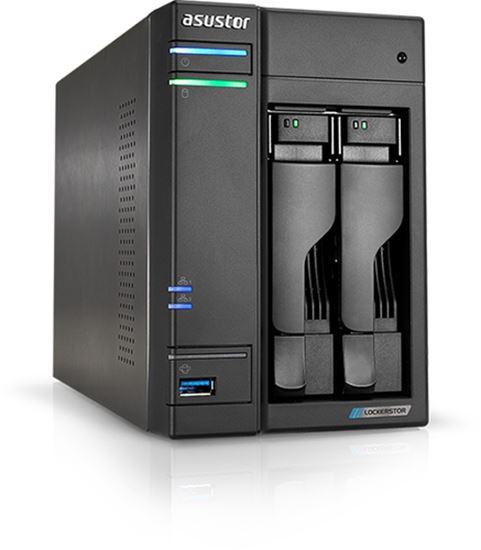 Immagine di ASUSTOR NAS 2 BAY 2XSATA3 6Gb/s, 2.5/3.5 HDD/SSD, QUAD CORE 2GHZ, 2XM2 PCIE SLOTS, RAM 4GB DDR4 SODIMM, 2X2.5GBE LAN, 3XUSB 3.2 GEN-1, WOW (WAKE ON WAN), CRITTOGRAFIA HARDWARE, EZ CONNECT, EZ SYNC