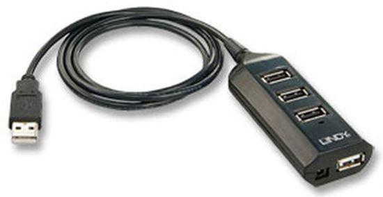 Immagine di LINDY HUB USB 2.0 4PORTE CON ALIMENTATORE