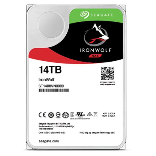 Immagine di SEAGATE HDD IRONWOLF 14TB 3,5 7200RPM SATA3 256MB CACHE