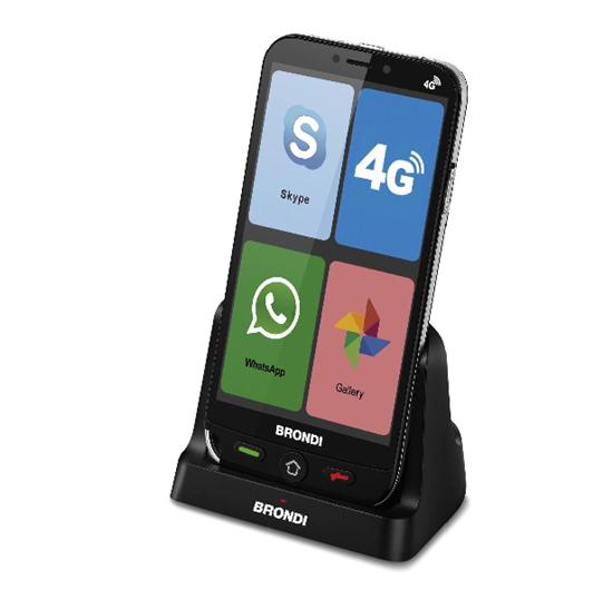 Immagine di BRONDI AMICO SMARTPHONE 4G 1GB RAM+8GB DUAL SIM NERO