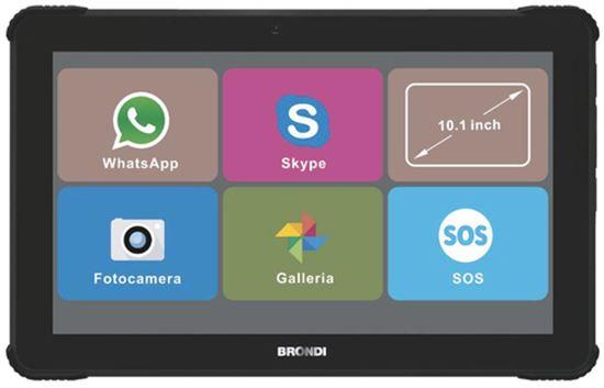 Immagine di BRONDI AMICO TABLET 10.1 LCD 1GB+8GB DUAL SIM 5000mAh 2MP TASTO SOS VIDEOCHIAMATE TRAMITE WHATAPP E SKYPE