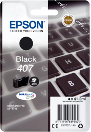 Immagine di EPSON CART. INK NERO PER WF-4545, 407 L