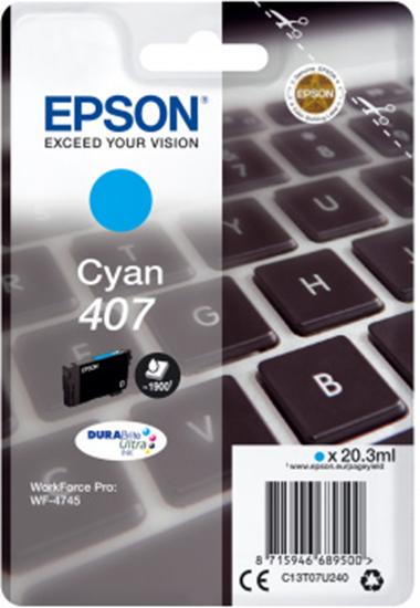 Immagine di EPSON CART. INK CIANO PER WF-4545, 407 L