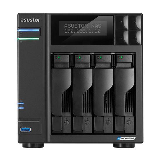 Immagine di ASUSTOR NAS 4 BAY 4XSATA3 6Gb/s, 2.5/3.5 HDD/SSD, QUAD CORE 2GHZ, 2XM2 PCIE SLOTS, RAM 4GB DDR4 SODIMM, 2X2.5GBE LAN, 3XUSB 3.2 GEN-1, WOW (WAKE ON WAN), CRITTOGRAFIA HARDWARE, EZ CONNECT, EZ SYNC