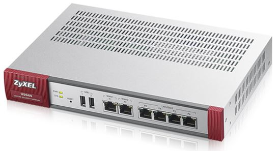 Immagine di ZYXEL SECURITY GATEWAY 60 2xWAN, 4xLAN, 2xUSB, VPN: 40 IPSec/L2TP, 5 SSL PCI DSS, WLAN Controller 2AP, ANTIVIRUS, 25 UTENTI