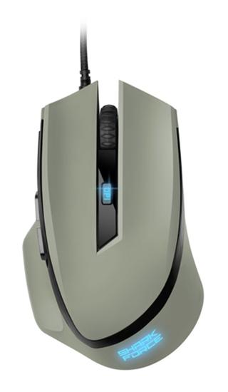 Immagine di SHARKOON MOUSE GAMING SHARK-FORCE2-GR, 4200 DPI, USB, 1.8MT, GRIGIO