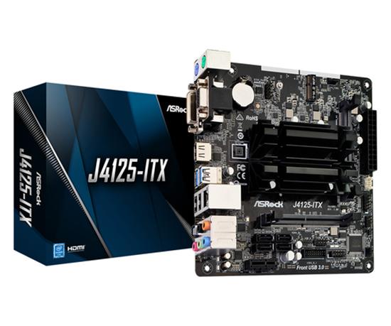 Immagine di ASROCK MB J4125-ITX, 2DDR4 2133/2400, 1PCIe, 1M2, 4SATA3 MINI ITX