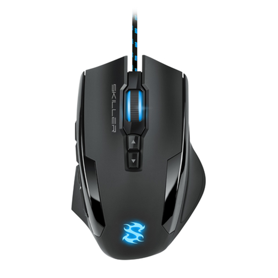 Immagine di SHARKOON MOUSE GAMING SKILLER-SGM2, 1600 DPI, RGB, 6 TASTI CONFIGURABILI, USB, 1.8MT