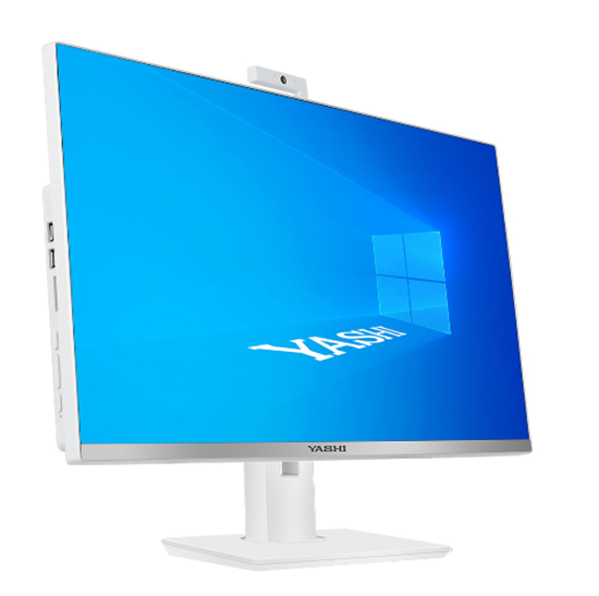 Immagine di YASHI PC AIO QUANTUM WHITE I5-10400 8GB 240GB SSD 24 WIN 10 PRO
