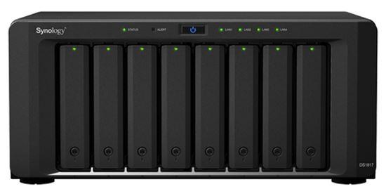 "Immagine di SYNOLOGY NAS TOWER 8BAY 2.5""/3.5"" SSD/HDD SATA ANNAPURNA LABS ALPINE AL-314 4CORE 1.7GHz, 4GB DDR3L (UP TO 8GB), 2x1GBE, 2x10GBASE-T,2xUSB 3.0, 2xESATA. SCALABILITA FINO A 18 UNITA CON 2xDX517"