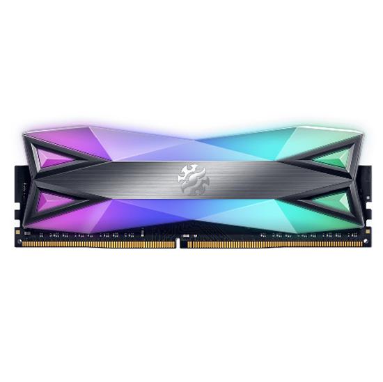 Immagine di ADATA RAM GAMING XPG SPECTRIX D60 DDR4 3200MHZ CL16 8GB RGB LED STRIP TITANIUM