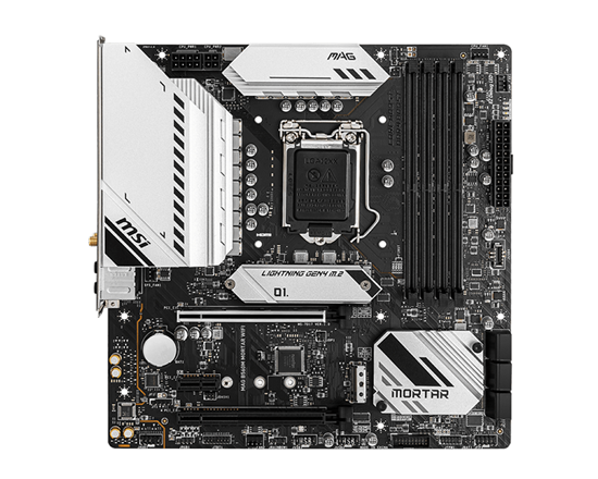 Immagine di MSI MB MAG B560M MORTAR WIFI, LGA 1200, 4DDR4, 2PCI-Ex16, 2M2, 6SATA3 COFFEE, ROCKET LAKE