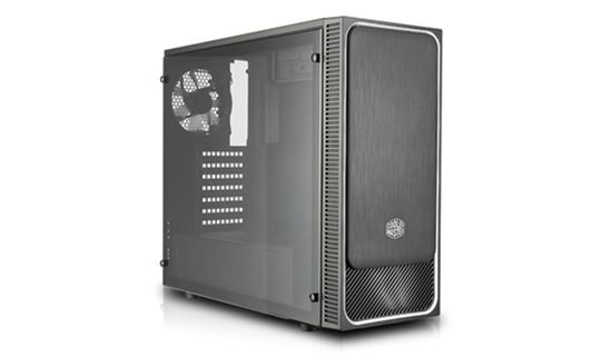"Immagine di COOLER MASTER CASE MASTERBOX E500L MID TOWER ATX, RED W/ FULL WINDOW USB3X2,IO, 1X 5,25"""",2X 2.5"""",2X 3.5"""",120MM LED FR. FAN+120MM R. FAN"