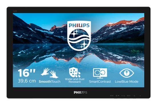 Immagine di PHILIPS MONITOR TOUCH 15,6 LED TN 16:9 1366x768 220 CDM 4MS, IP65, VGA/DVI/DP/HDMI, MULTIMEDIALE NO
