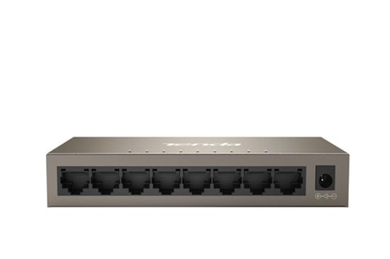 Immagine di TENDA SWITCH 8 PORTE GIGABIT IEEE 802.3/U/X/AB, SWITCHING 16GBPS, PROTEZIONE VULMINI 6KV