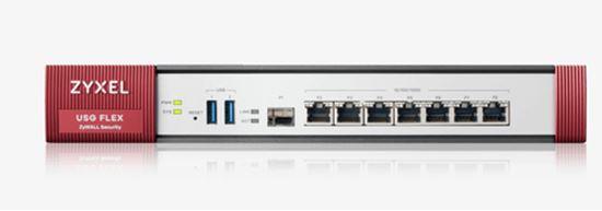 Immagine di ZYXEL FIREWALL USG FLEX 500 SECURITY GATEWAY 7XOPT, 1XWAN, 2XLAN, 2XUSB, VPN 300 IPSEC/L2TP, 150 SSL, AMAZON VPC, 1 ANNO SECURITY PACK INCLUSO, SSL INSPECTION, PCI DSS COMPLIANT, WLAN CONTROLLER 8 AP