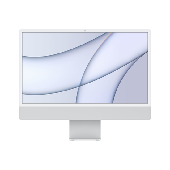 "Immagine di APPLE PC IMAC 24"" SILVER WITH RETINA 4,5K, APPLE M1 CHIP WITH 8 CORE CPU + 8 CORE GPU, 8GB 512GB"