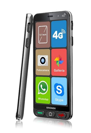 Immagine di BRONDI AMICO SMARTPHONE S 4G 1GB RAM +8GB DUAL SIM NERO