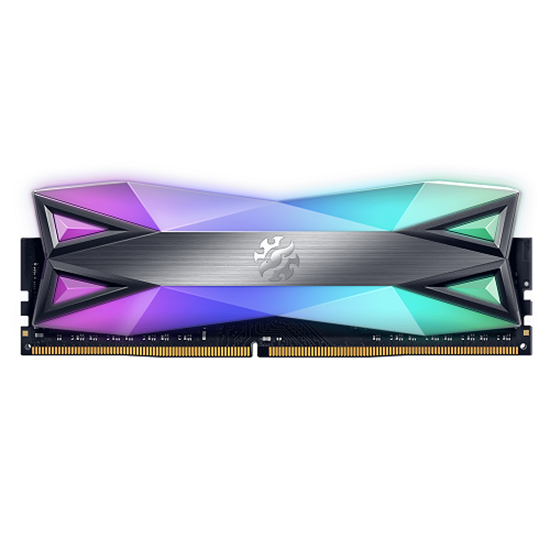 Immagine di ADATA RAM GAMING XPG SPECTRIX D60G 16GB(1x16GB) DDR4 3200MHZ RGB, CL16-20-20, TUNGSTEN GREY