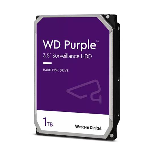 Immagine di WESTERN DIGITAL HDD PURPLE 1TB 3,5 5400RPM SATA 6GB/S 64MB CACHE