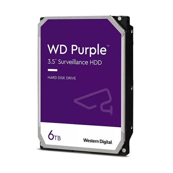 Immagine di WESTERN DIGITAL HDD PURPLE 6TB 3,5 5400RPM SATA 6GB/S 128MB CACHE