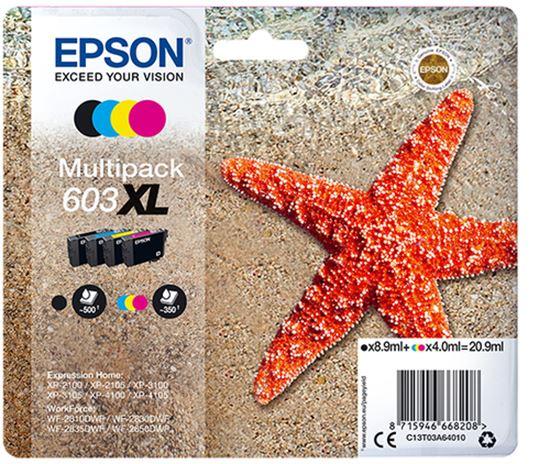 Immagine di EPSON CART. INK 603 XL MULTI PACK, NERO, GIALLO, CIANO, MAGENTA