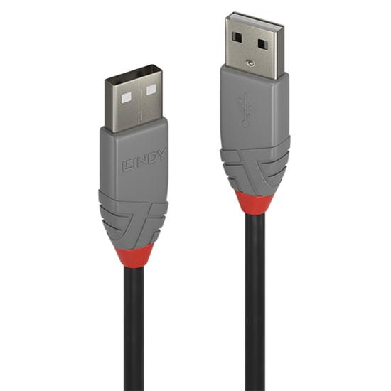 Immagine di LINDY CAVO USB 2.0 TIPO A/A ANTHRA LINE, 1M