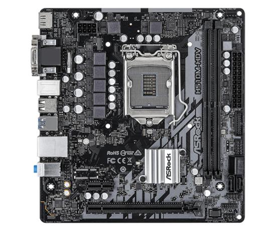 Immagine di ASROCK MB H510M-HDV, LGA 1200, 2DDR4, 4SATA3,  VGA/DVI/HDMI, MATX, ROCKET LAKE