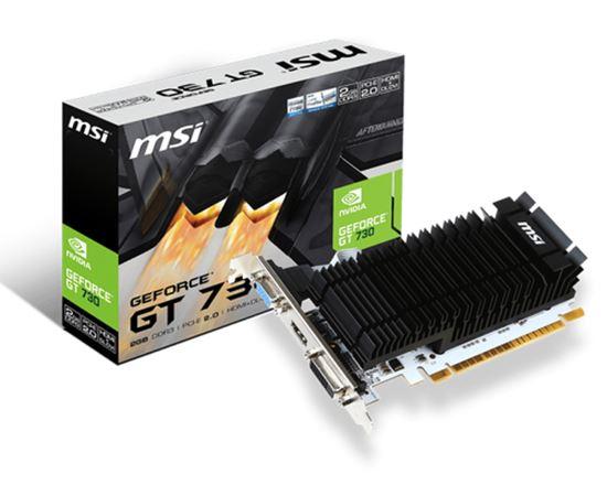 Immagine di MSI VGA N730K-2GD3H/LP, 2GB GDDR3, DVI-D/HDMI/VGA