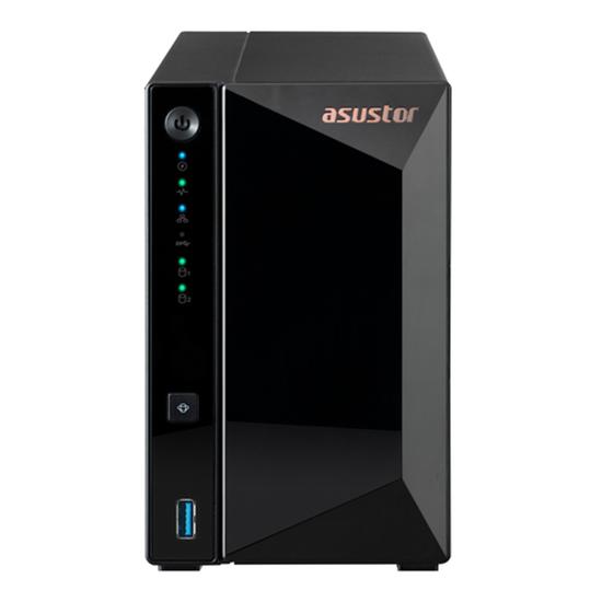 """Immagine di ASUSTOR NAS 2BAY 2.5/3.5"""" SATA HDD/SSD, REALTEK RTD1296 4CORE, 1.4GHZ, 2GB DDR4, 1X2.5GBE, 3XUSB3.2,"""