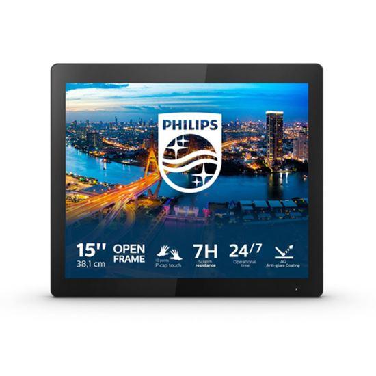 "Immagine di PHILIPS MONITOR OPEN FRAME 15,6"" 1024x768 4:3 450 CDM, IP65, 10 TOUCH, VGA/DP/DVI/HDMI MULTIMEDIALE"
