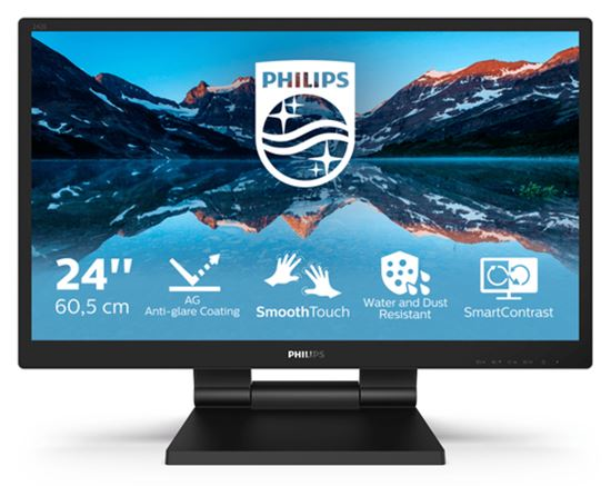 Immagine di PHILIPS MONITOR TOUCH 23,8 LED IPS FHD 16:9 5MS 250 CDM, VGA/DVI/DP/HDMI, PIVOT, MULTIM, IP54, RIPI