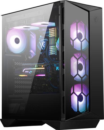 Immagine di MSI CASE ATX MID-TOWER GUNGNIR 110R, 7 SLOT HDD/SSD, 3x120MM ARGB FAN FRONT, 1x120MM ARGB FAN REAR, 2xUSB 3.2 TYPE-A, 1xUSB 3.2 TYPE-C, WINDOW PANEL IN VETRO, COLORE NERO