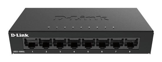Immagine di D-LINK SWITCH 8 PORTE GIGABIT ETHERNET METAL HOUSING UNMANAGED SWITCH